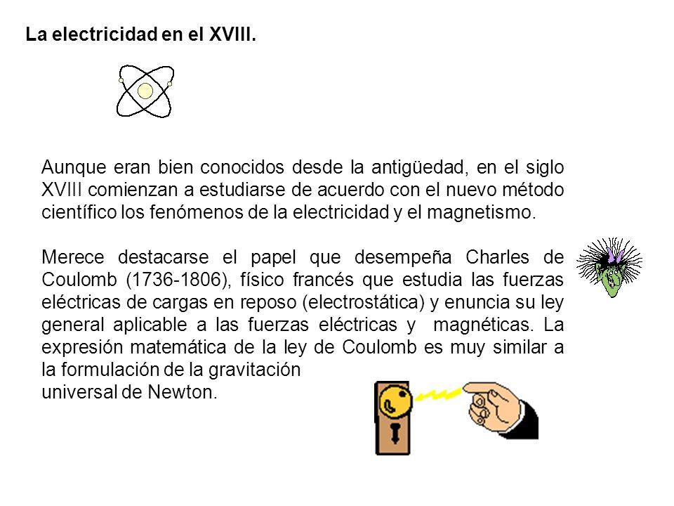 La electricidad en el XVIII.