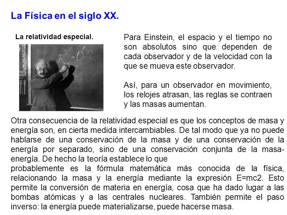 La Física en el siglo XX. La relatividad especial.
