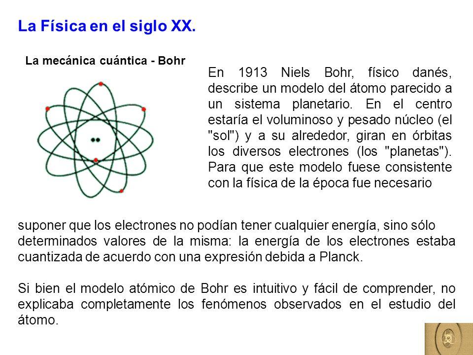 La Física en el siglo XX.La mecánica cuántica - Bohr.