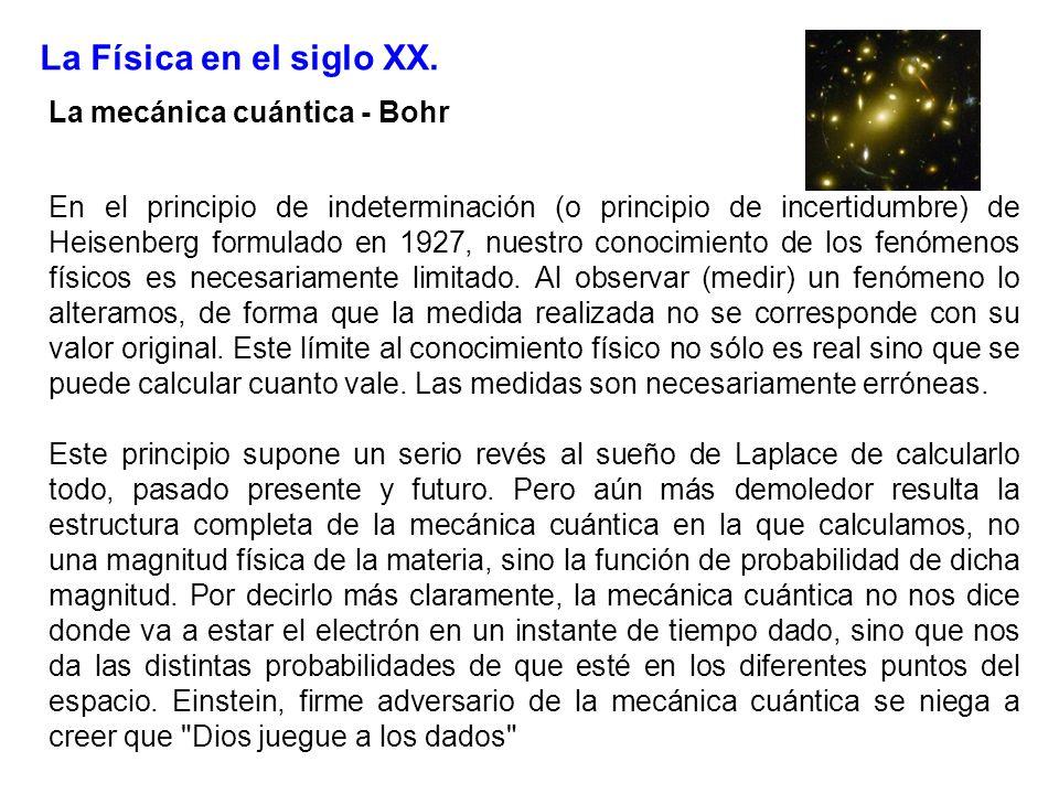 La Física en el siglo XX. La mecánica cuántica - Bohr