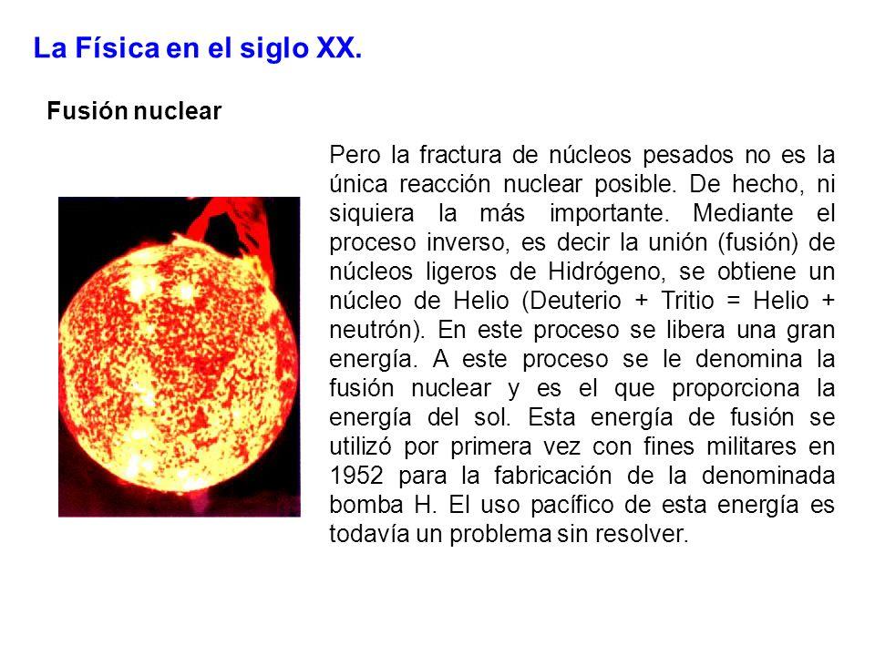 La Física en el siglo XX. Fusión nuclear