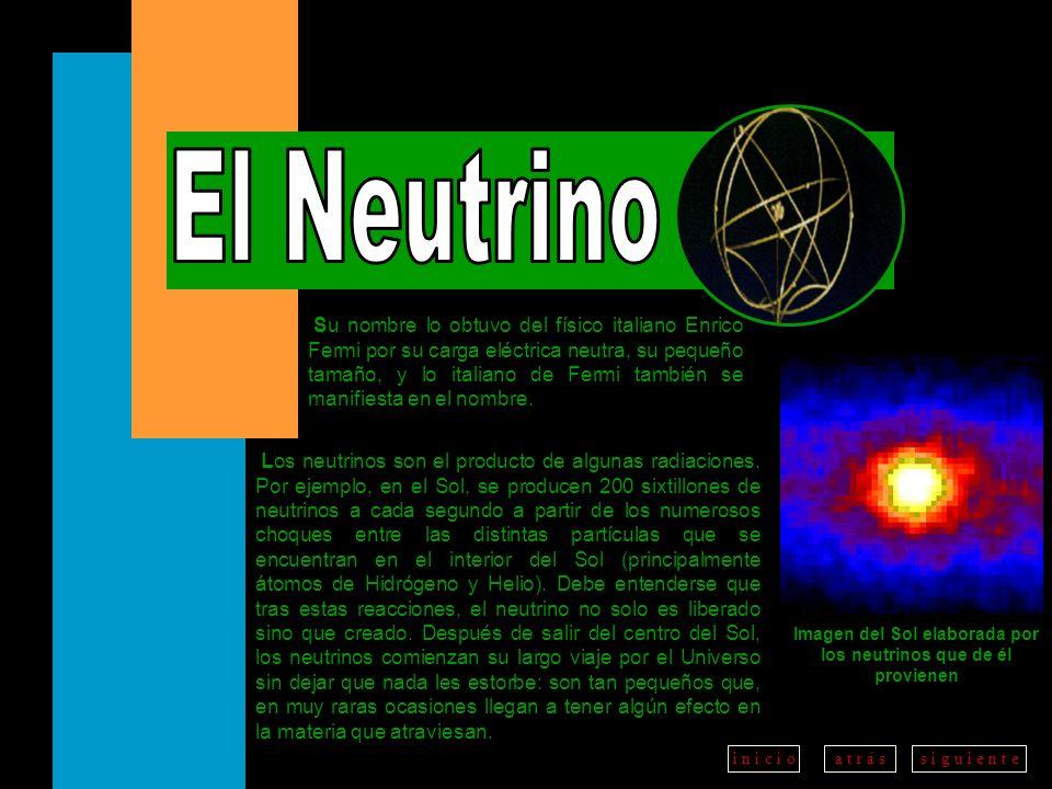 Imagen del Sol elaborada por los neutrinos que de él provienen