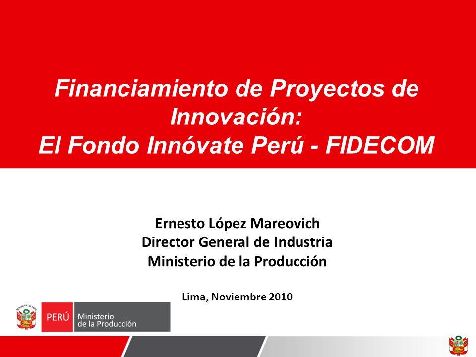 Financiamiento de Proyectos de Innovación: