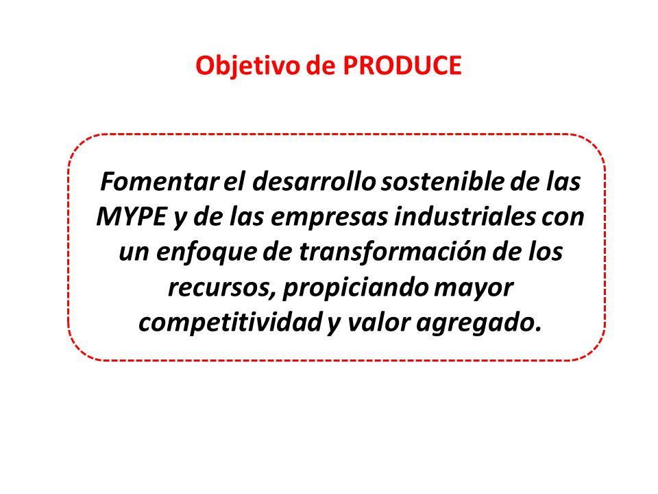 Objetivo de PRODUCE