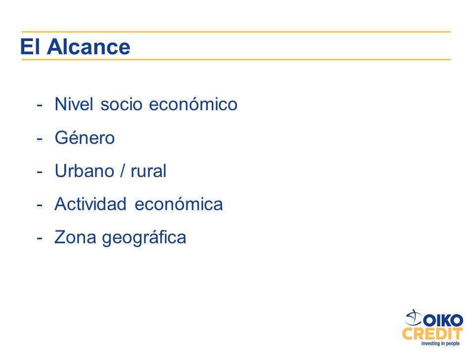 El Alcance Nivel socio económico Género Urbano / rural