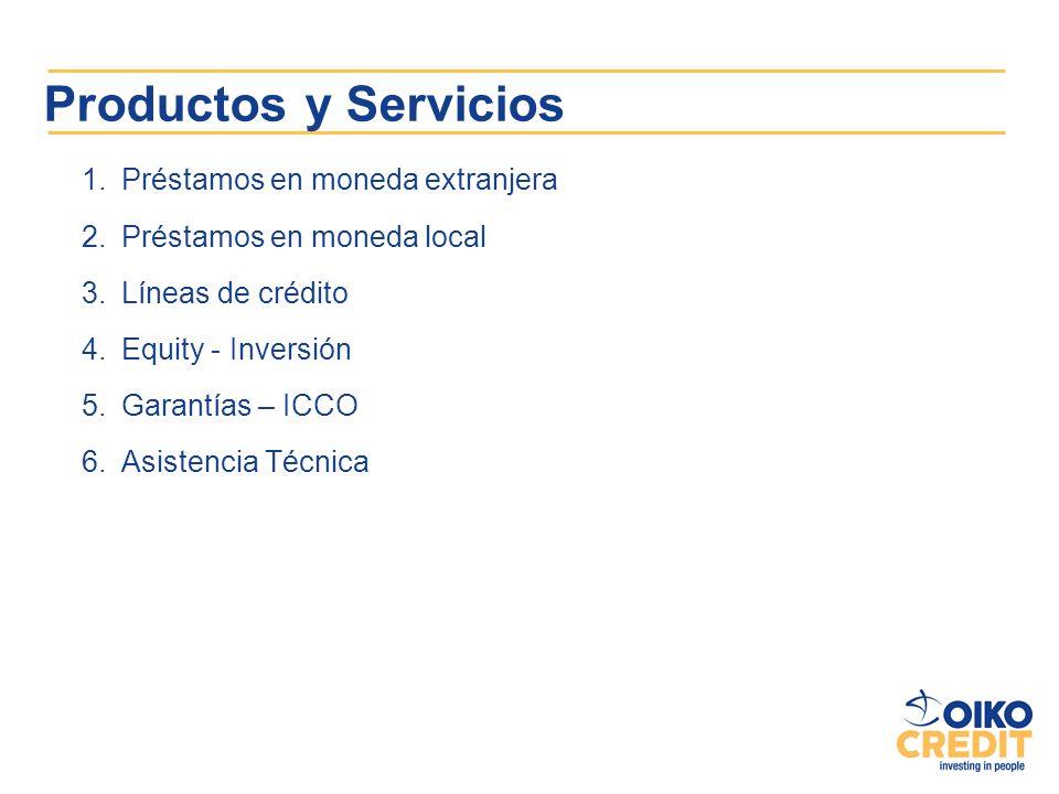Productos y Servicios Préstamos en moneda extranjera
