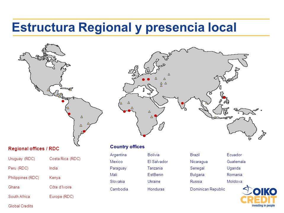 Estructura Regional y presencia local