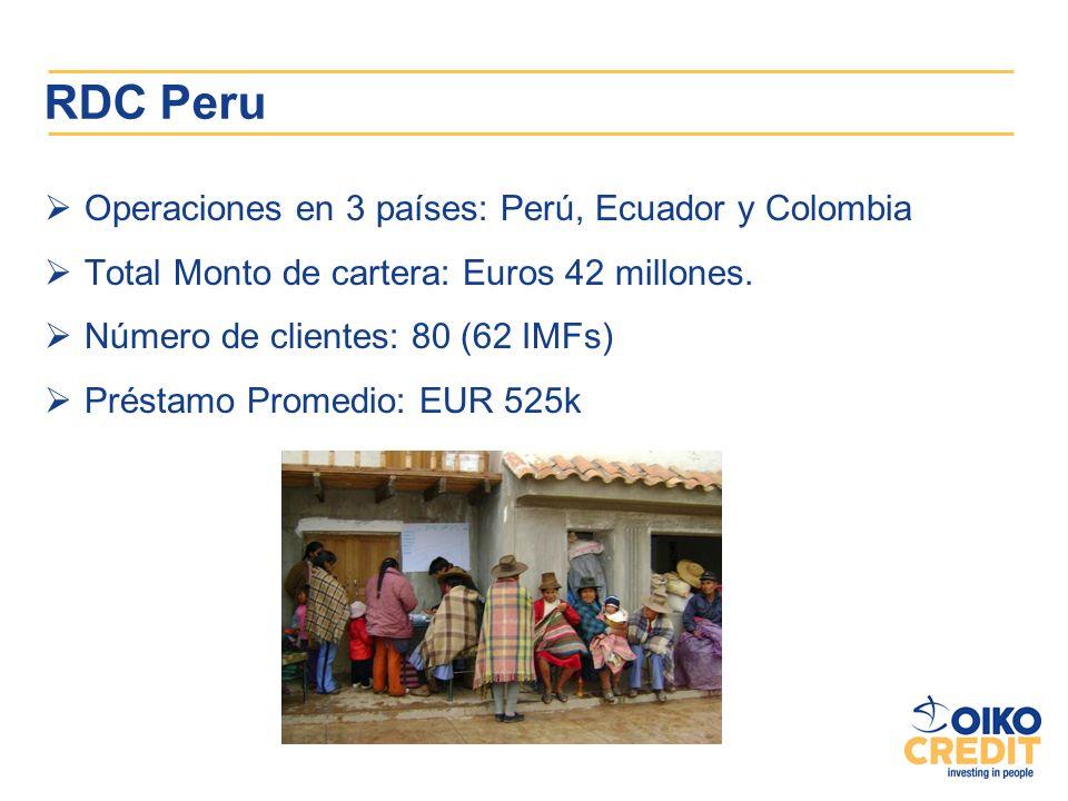 RDC Peru Operaciones en 3 países: Perú, Ecuador y Colombia