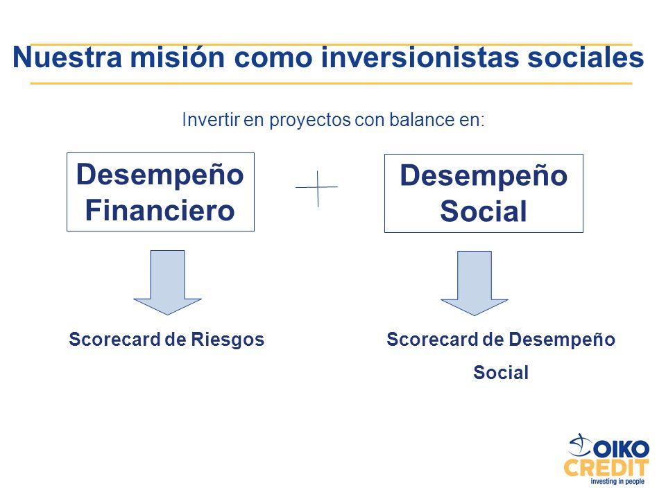 Nuestra misión como inversionistas sociales