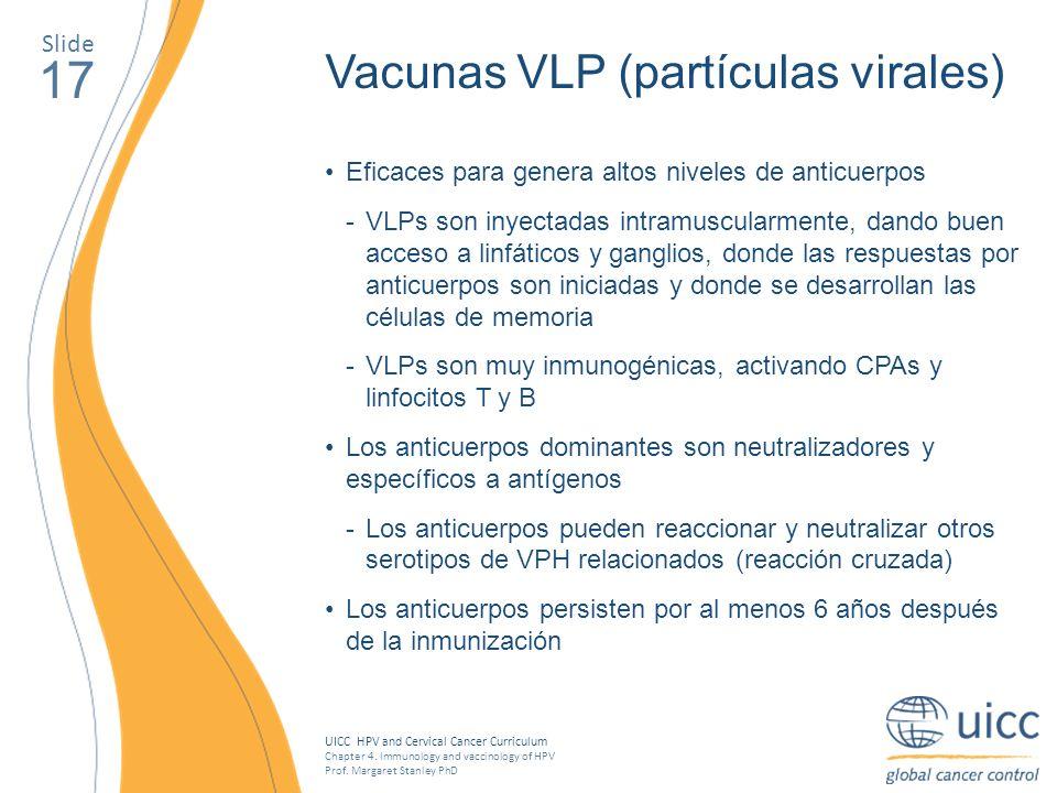 17 Vacunas VLP (partículas virales) Slide
