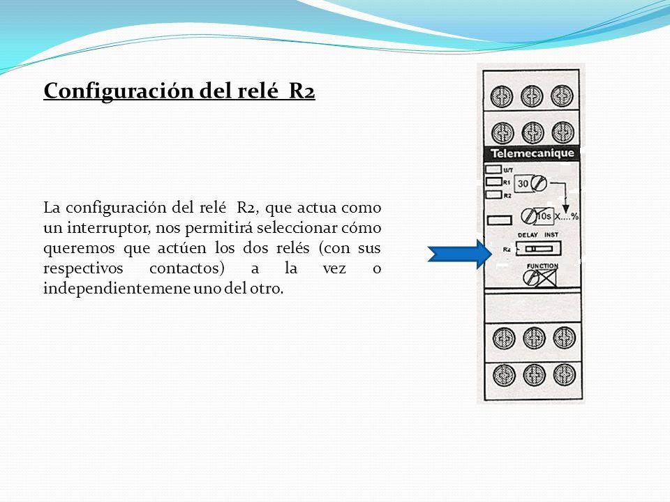 Configuración del relé R2