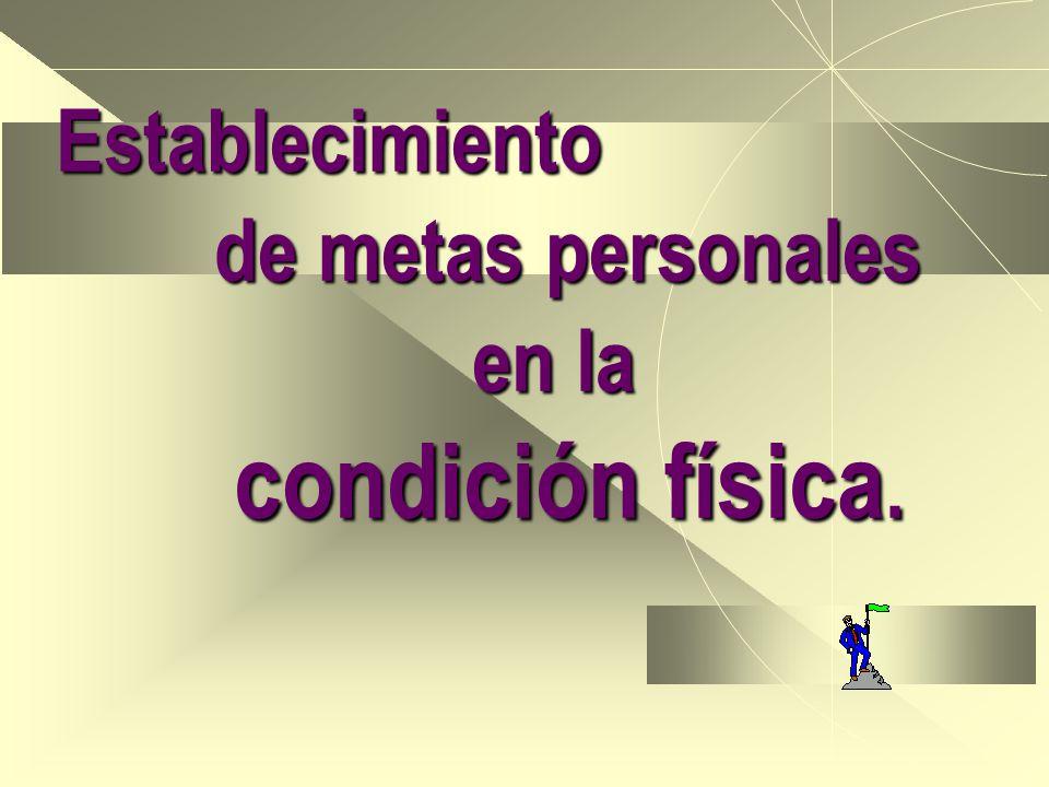 Establecimiento de metas personales en la condición física.