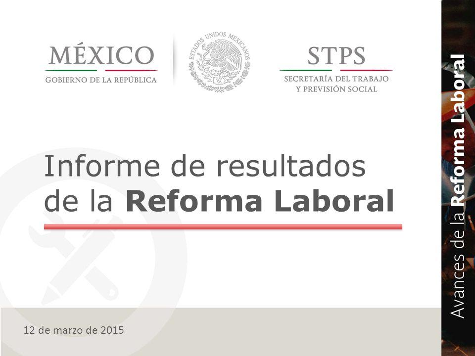 Informe de resultados de la Reforma Laboral 12 de marzo de 2015