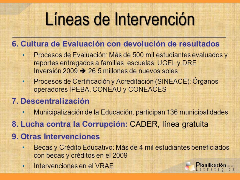 Líneas de Intervención