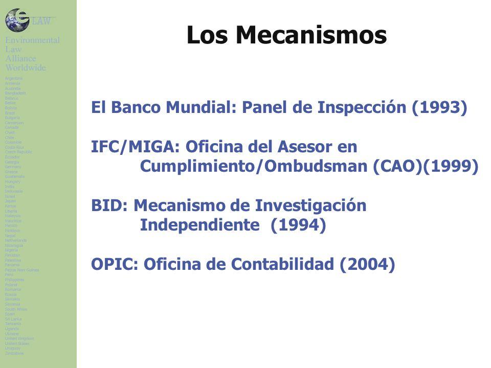 Los Mecanismos El Banco Mundial: Panel de Inspección (1993)