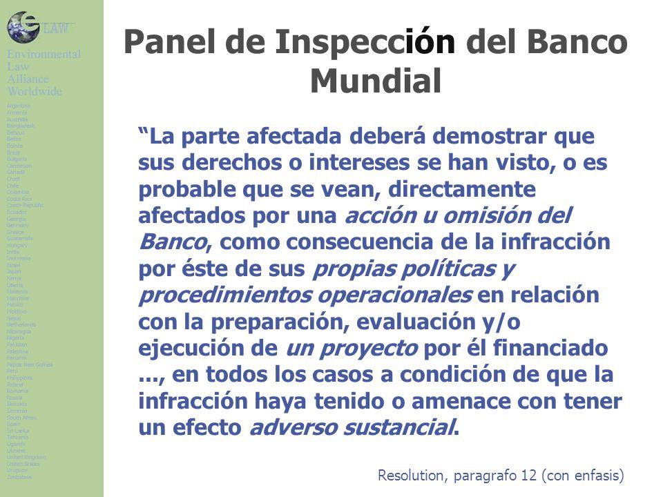 Panel de Inspección del Banco Mundial