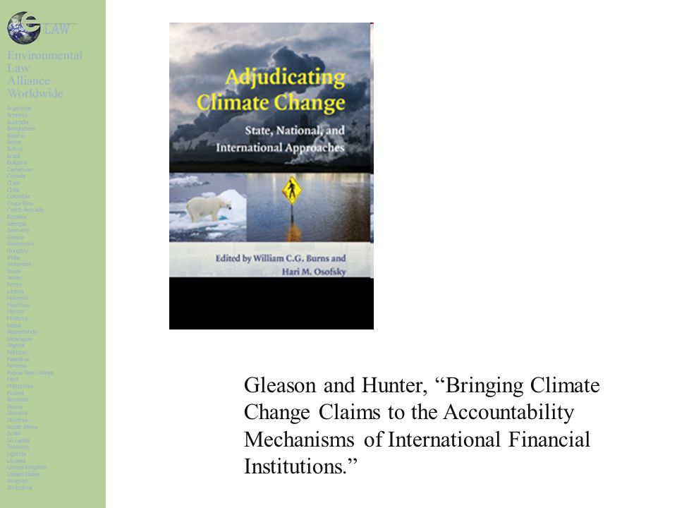 Gleason and Hunter, Bringing Climate Change Claims to the Accountability Mechanisms of International Financial Institutions.
