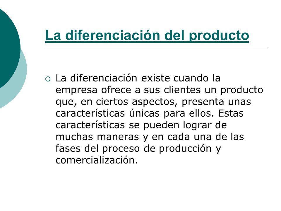 La diferenciación del producto