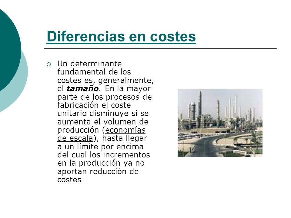 Diferencias en costes