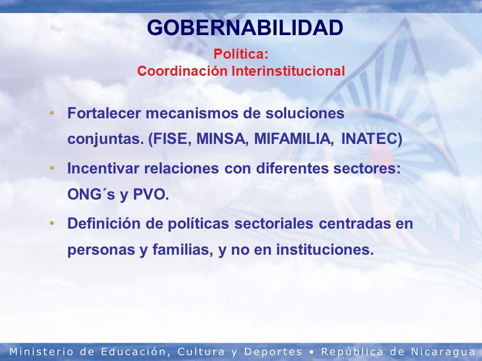 Política: Coordinación Interinstitucional