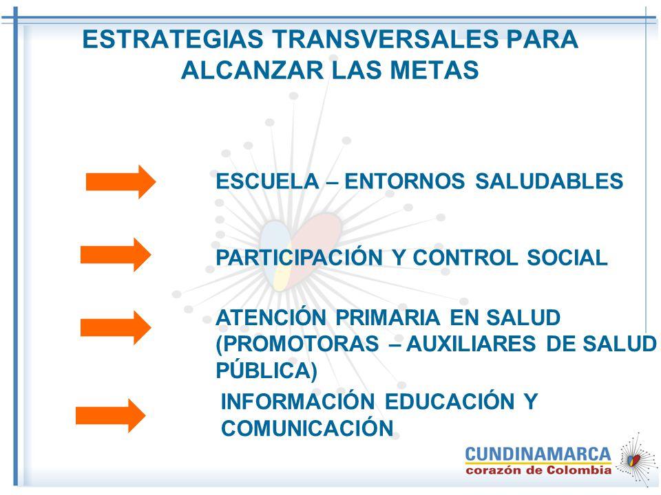ESTRATEGIAS TRANSVERSALES PARA ALCANZAR LAS METAS