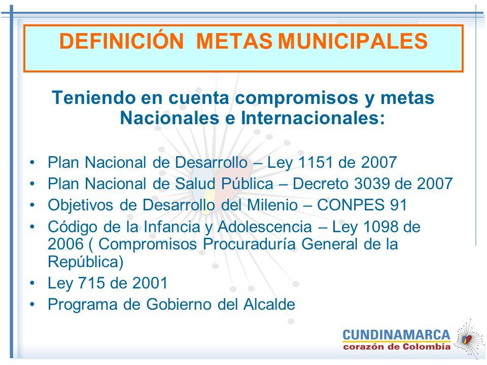 DEFINICIÓN METAS MUNICIPALES