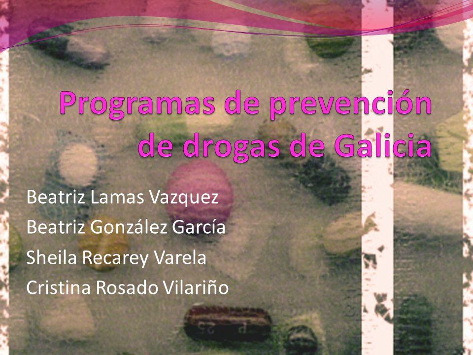 Programas de prevención de drogas de Galicia