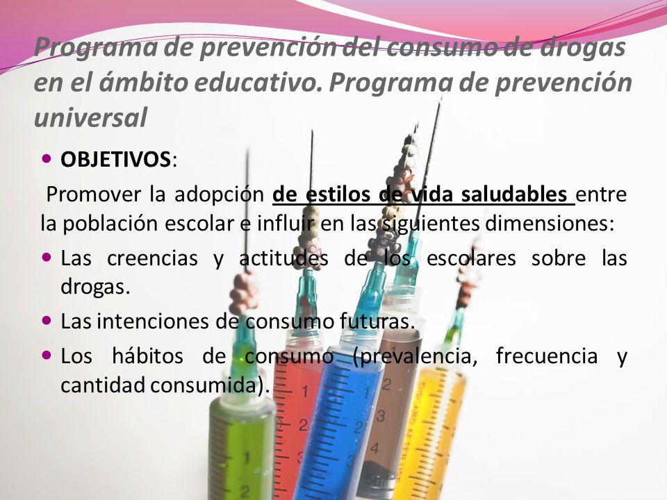 Programa de prevención del consumo de drogas en el ámbito educativo