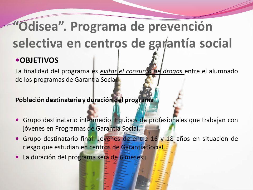Odisea . Programa de prevención selectiva en centros de garantía social