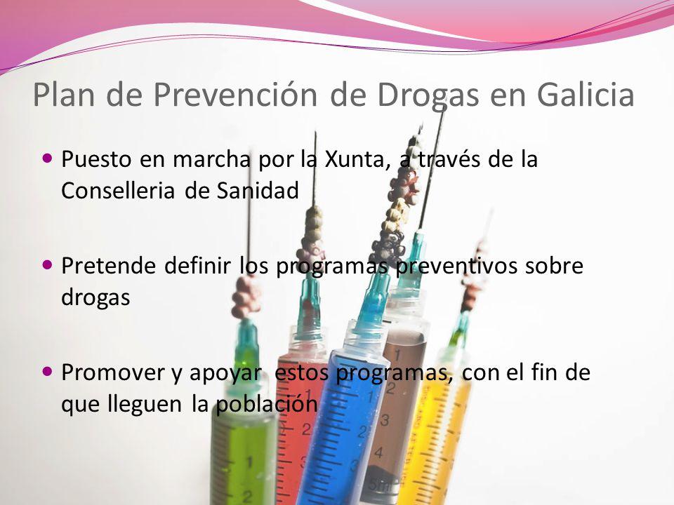 Plan de Prevención de Drogas en Galicia