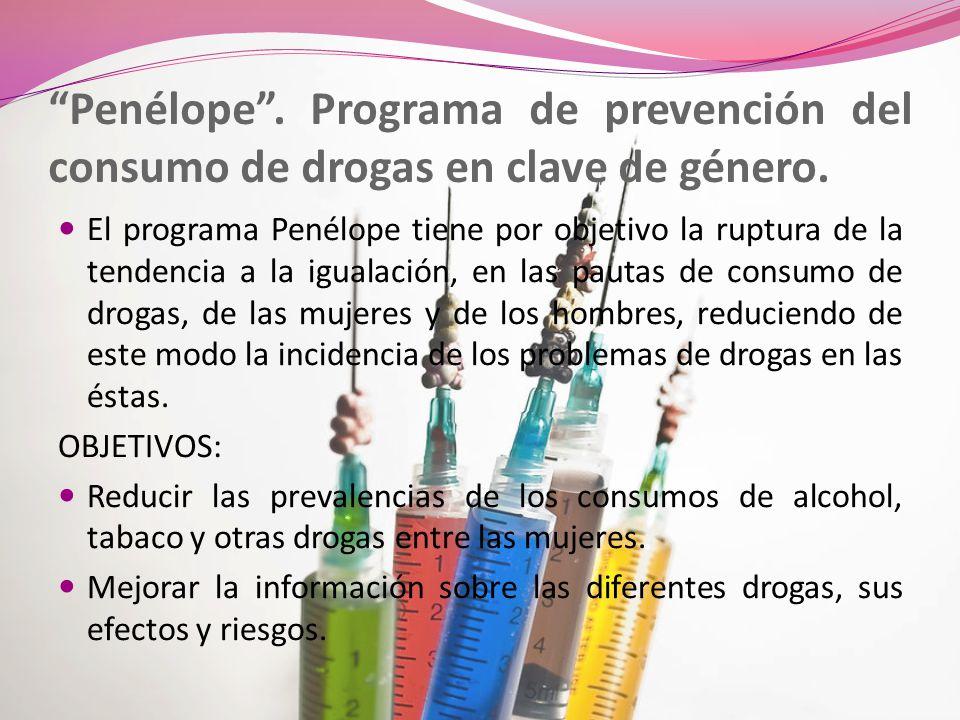 Penélope . Programa de prevención del consumo de drogas en clave de género.