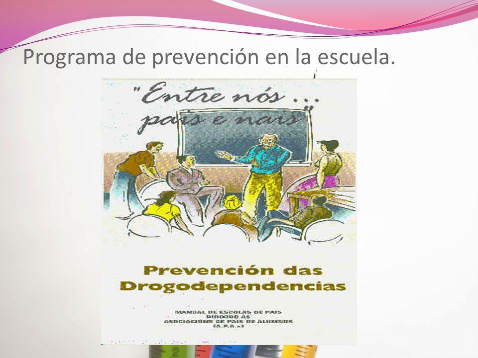 Programa de prevención en la escuela.