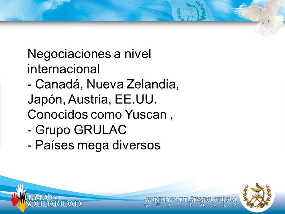 Negociaciones a nivel internacional - Canadá, Nueva Zelandia, Japón, Austria, EE.UU.