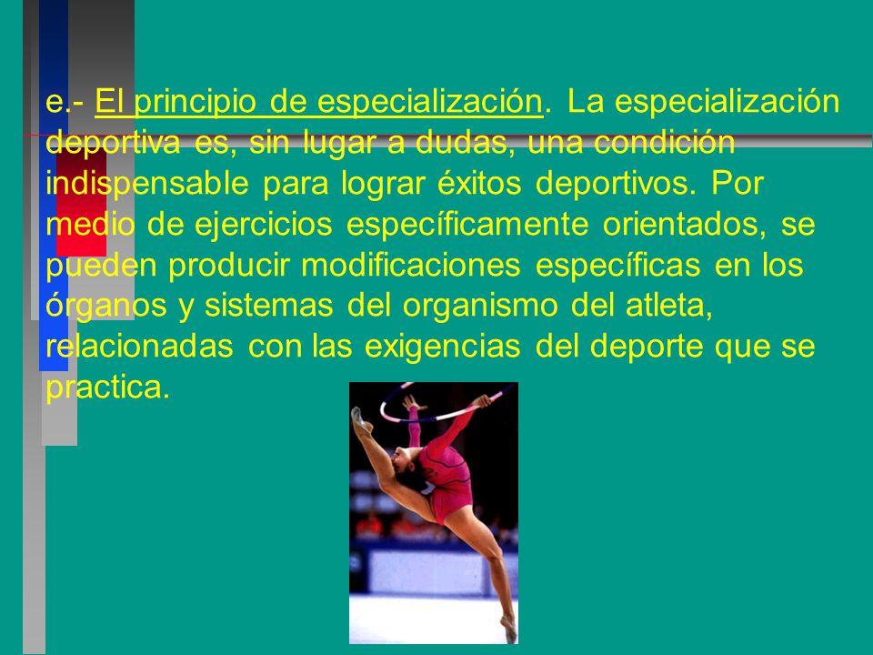 e. - El principio de especialización
