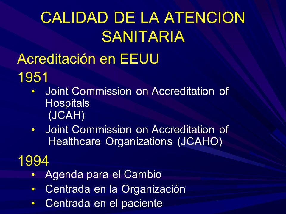 CALIDAD DE LA ATENCION SANITARIA