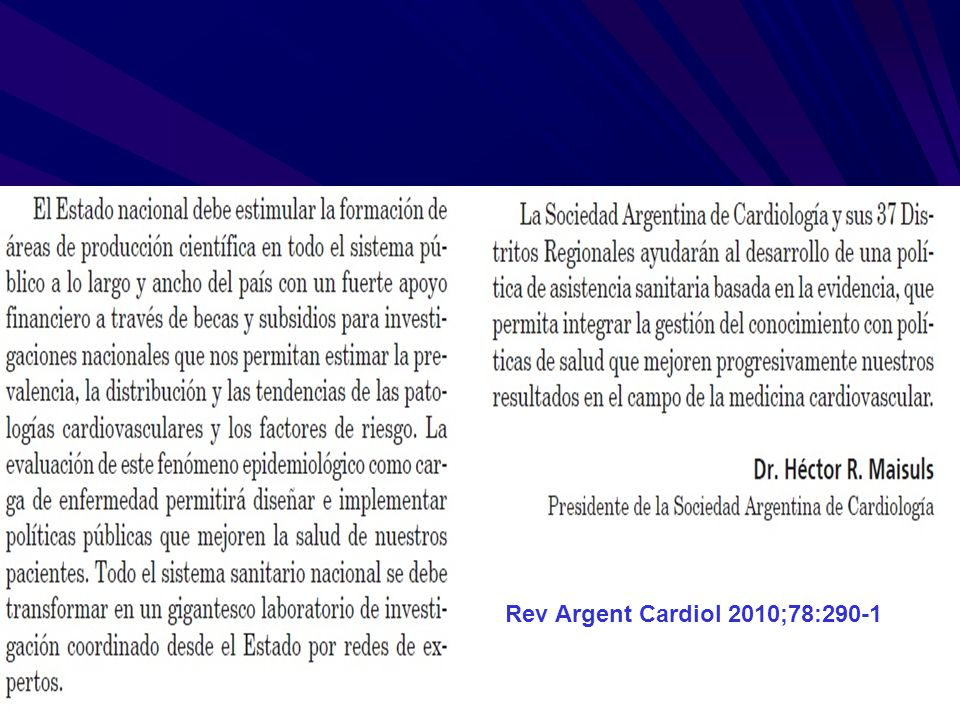 Rev Argent Cardiol 2010;78:290-1