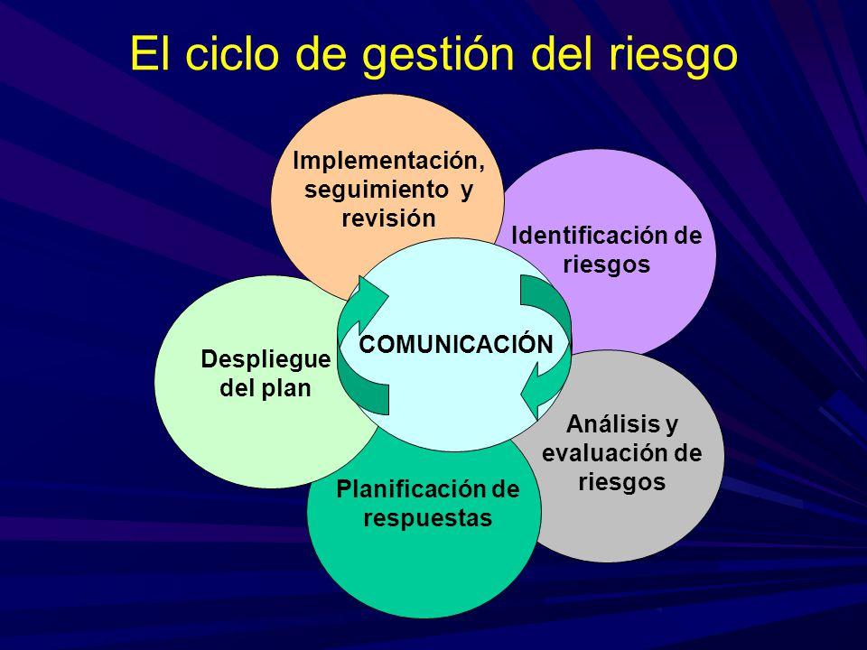 El ciclo de gestión del riesgo