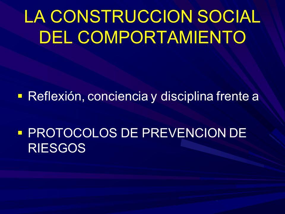 LA CONSTRUCCION SOCIAL DEL COMPORTAMIENTO