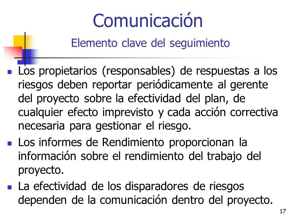 Comunicación Elemento clave del seguimiento