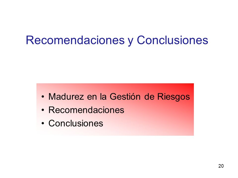 Recomendaciones y Conclusiones