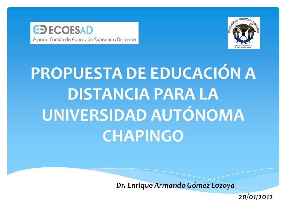 Dr. Enrique Armando Gómez Lozoya 20/01/2012