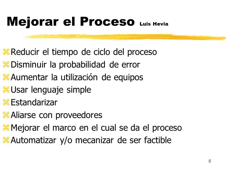 Mejorar el Proceso Luis Hevia
