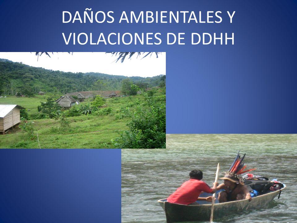 DAÑOS AMBIENTALES Y VIOLACIONES DE DDHH