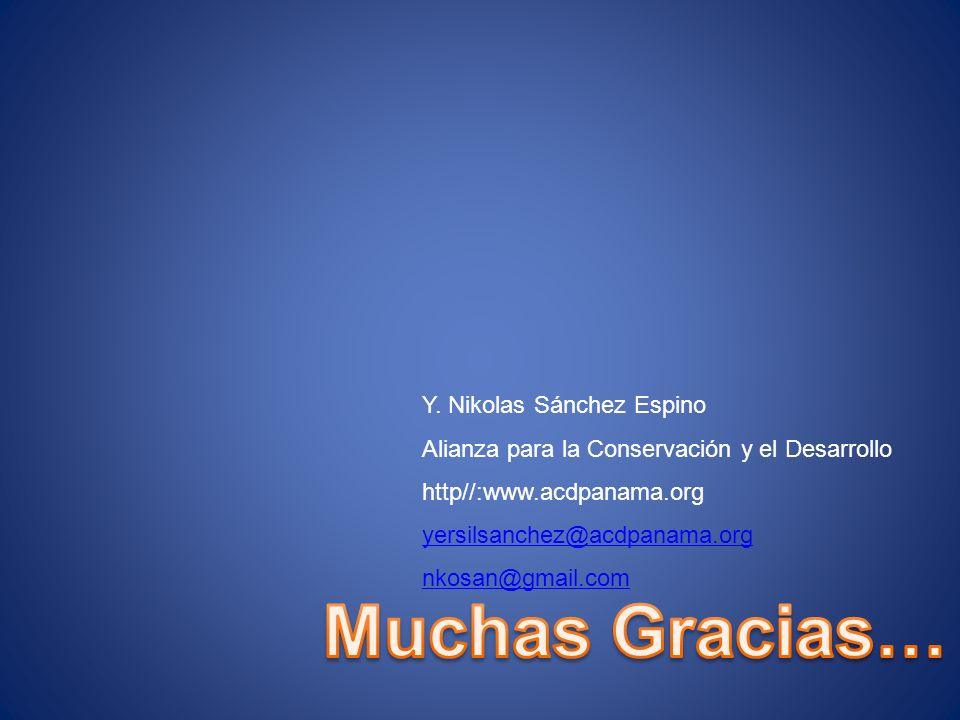 Muchas Gracias… Y. Nikolas Sánchez Espino