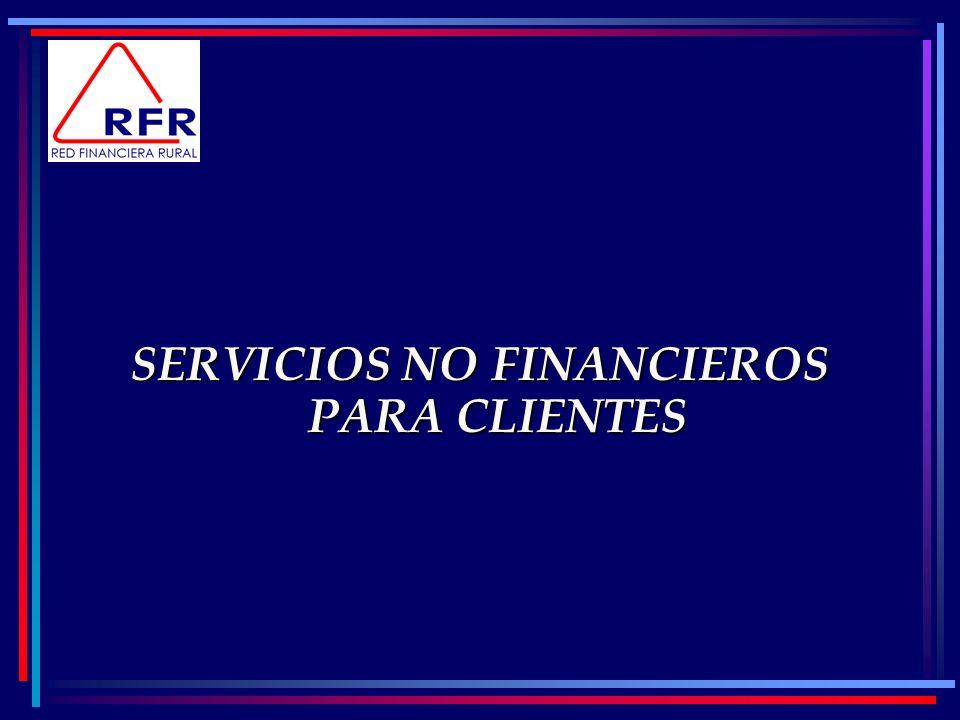 SERVICIOS NO FINANCIEROS PARA CLIENTES