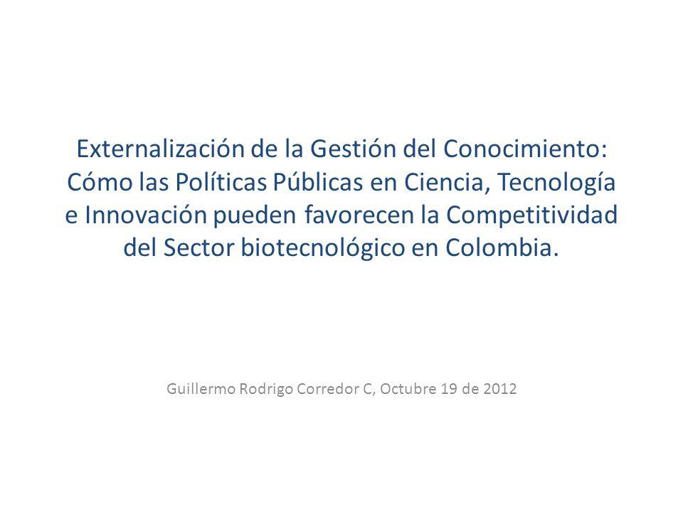 Guillermo Rodrigo Corredor C, Octubre 19 de 2012