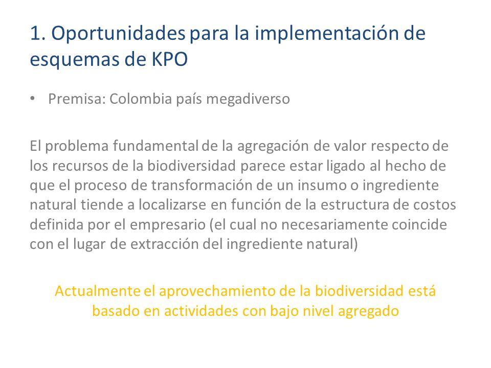1. Oportunidades para la implementación de esquemas de KPO