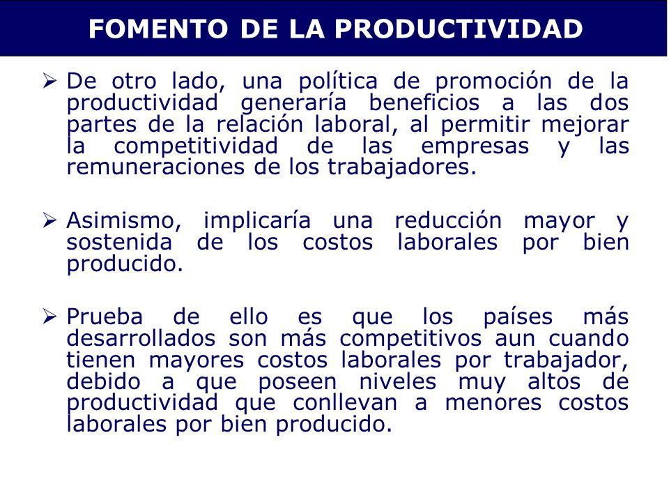 FOMENTO DE LA PRODUCTIVIDAD