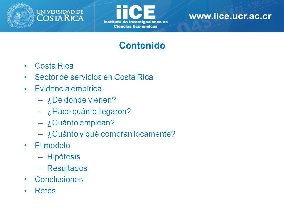 Contenido Costa Rica Sector de servicios en Costa Rica