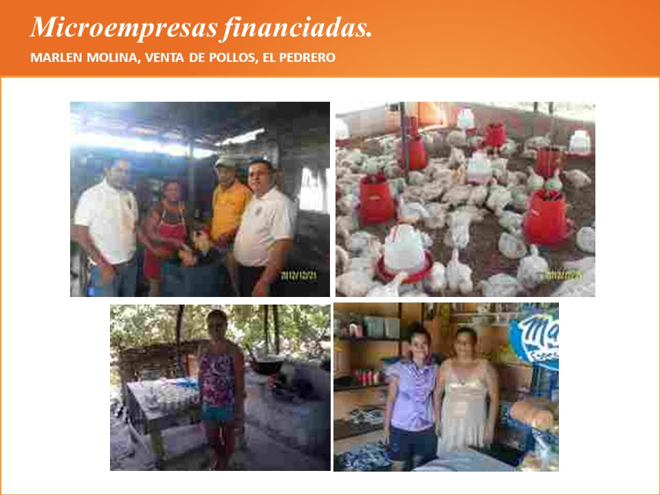 Microempresas financiadas.